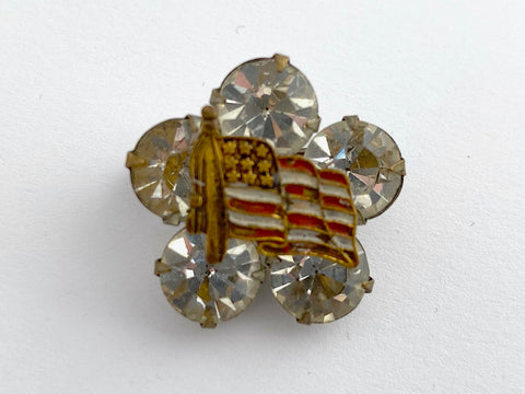 American Flag One of a Kind Brooch BR366