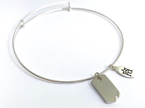 Limited Edition Military Dog Tag Memory Wire Bracelet