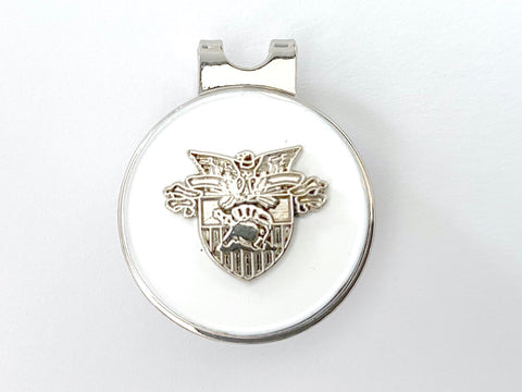 USMA Small Silver Crest Golf Hat Clip and Ball Marker