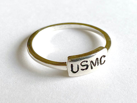 United States Marine Corps (USMC) Hand Stamped Ring BR512