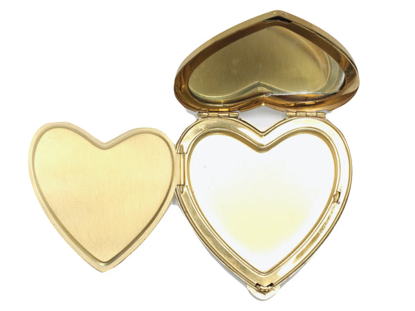 WWII-era Vintage Sweetheart Compact | Gold Navy Heart VB9