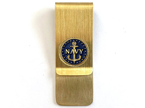Navy Money Clip