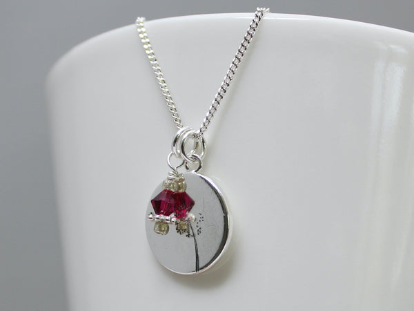 Garnet Swarovski Crystal ~ January Birthstone