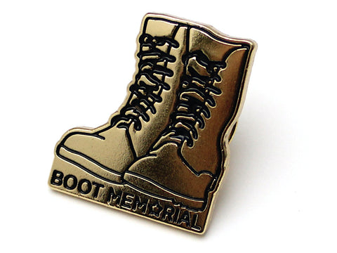 Boot Memorial Lapel Pin