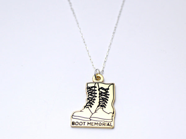 Boot Memorial Silver Necklace