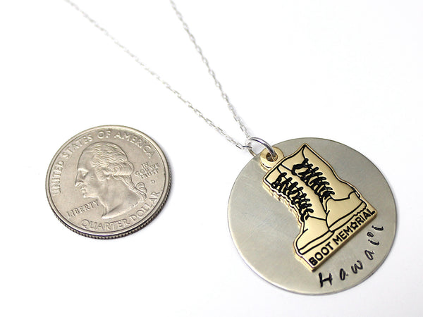 Boot Memorial Rememberance Necklace