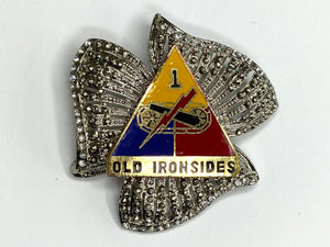 1st Armored Division Limited Edition Brooch BR174