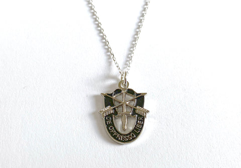 US Army Special Forces 'De Oppresso Liber' (DOL) Charm Necklace