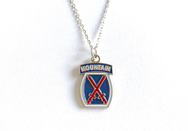 10th Mountain Division Charm Necklace