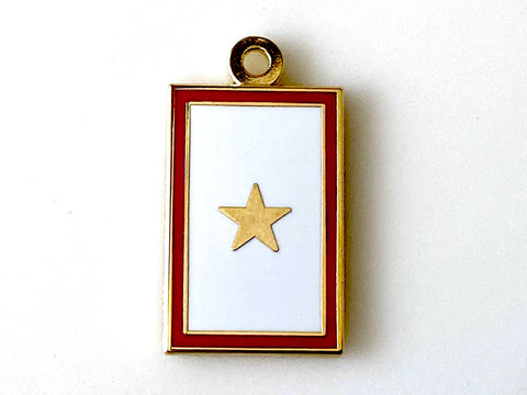 1 Gold Star Service Flag Charm