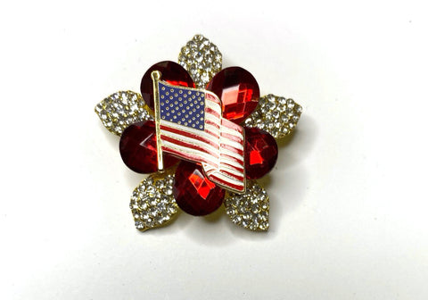 American Flag Vintage Limited Edition Brooch BR312