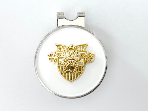 USMA Small Gold Crest Golf Hat Clip and Ball Marker