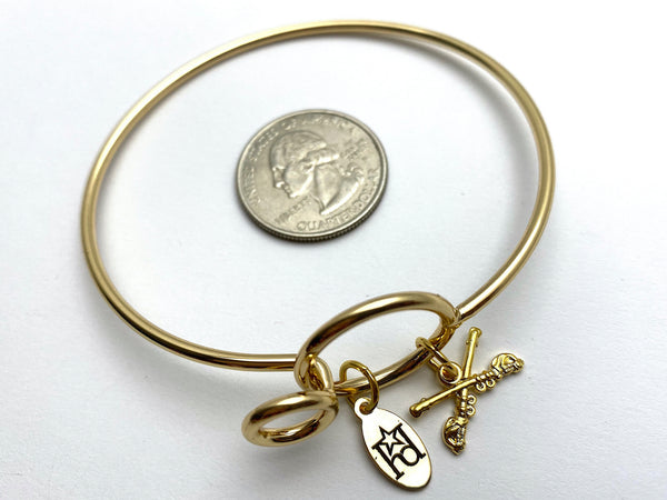 Cavalry Memory Wire Bracelet | Crossed Sabers