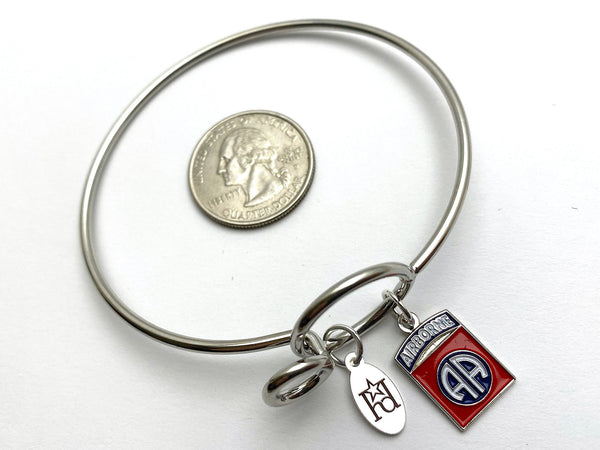 82nd Airborne Division Memory Wire Bracelet | 82 AD