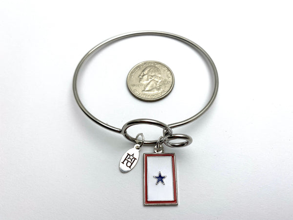 Blue Star Flag Memory Wire Bracelet | 1 2 3 Stars