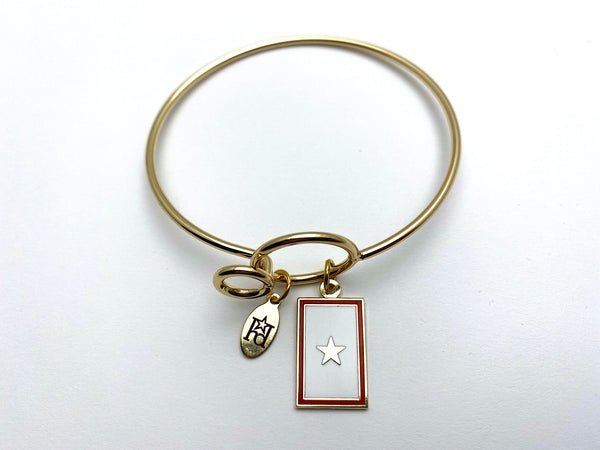Gold Star Flag Memory Wire Bracelet