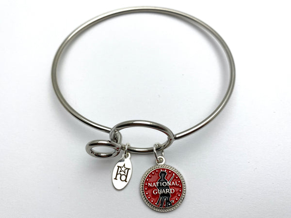 National Guard Memory Wire Bracelet