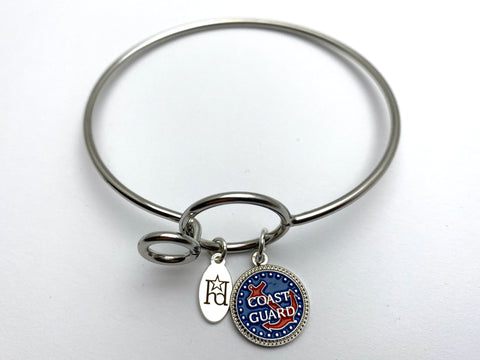 Coast Guard Memory Wire Bracelet