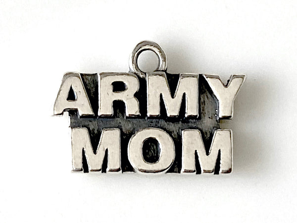 Army Mom Sterling Silver Charm
