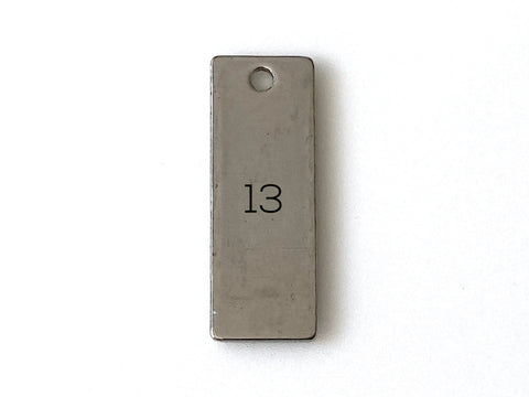 Short Rectangle 25mm - Metal Blank 13