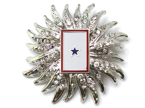 Blue Star Flag Brooch