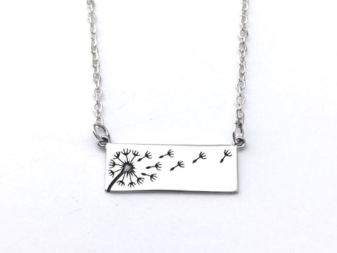 Dandelion Sterling Silver  Pendant Necklace