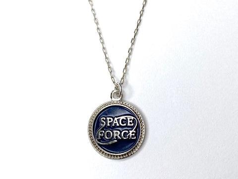 Space Force Charm Necklace