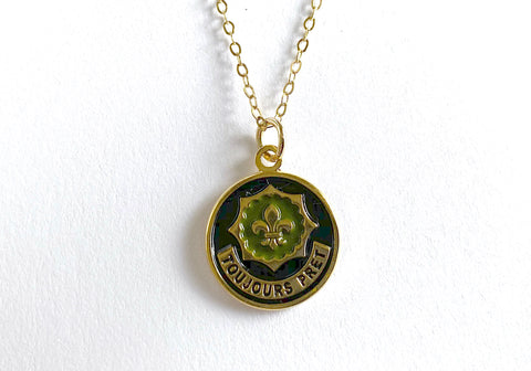 2nd Cavalry Regiment Charm Necklace