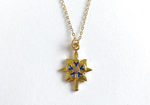 Military Intelligence (MI) Charm Necklace