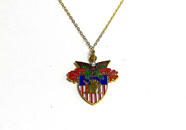 USMA Large Crest Charm Necklace