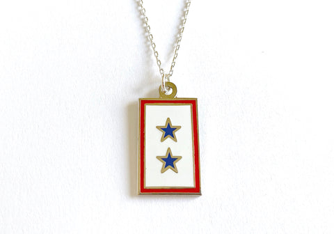 Blue Star (2 Star) Charm Necklace