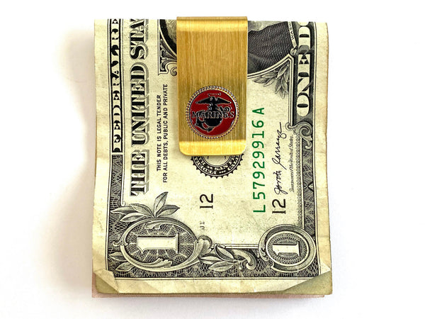 Marines Money Clip