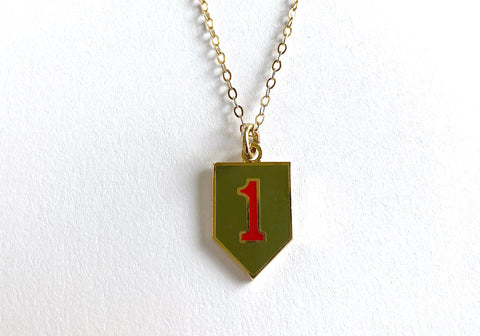 1st Infantry Division Charm Necklace