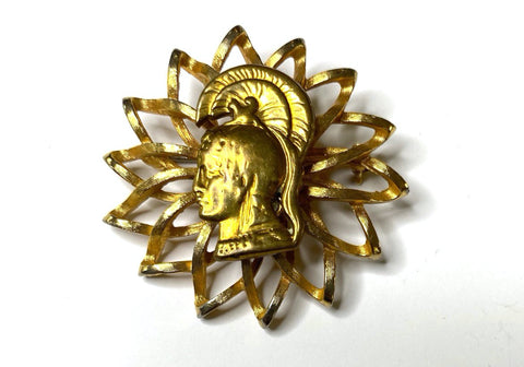 Vintage WWII Era Women's Army Corps Insignia on a Vintage Brooch BR199