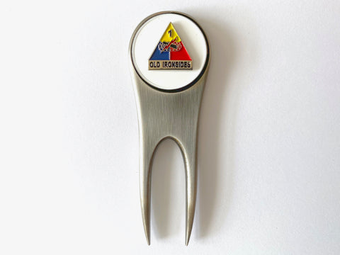 1st Armored Division Golf Divot Tool and Ball Marker