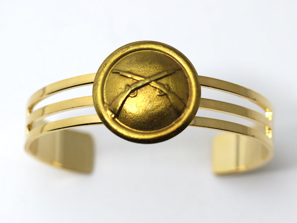 1870's Indian War Infantry Insignia on Cuff Bracelet