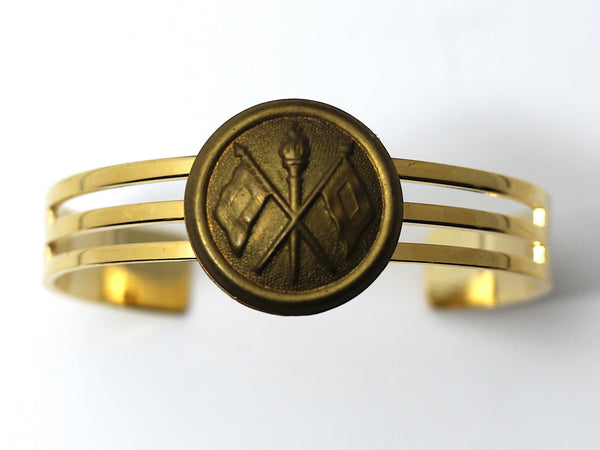 1870's Indian War Signal Corps Insignia on Cuff Bracelet