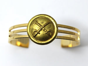 1870's Indian War Cavalry Insignia on Cuff Bracelet