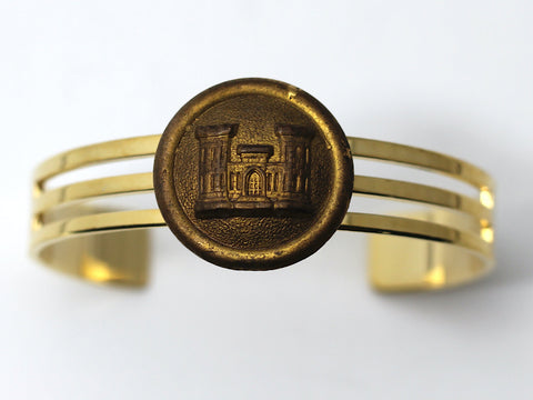 1870's Indian War Engineer Insignia on Cuff Bracelet