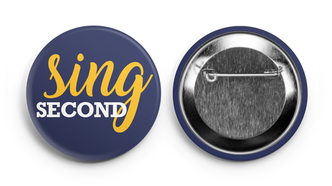 Sing Second Navy Supporter Button