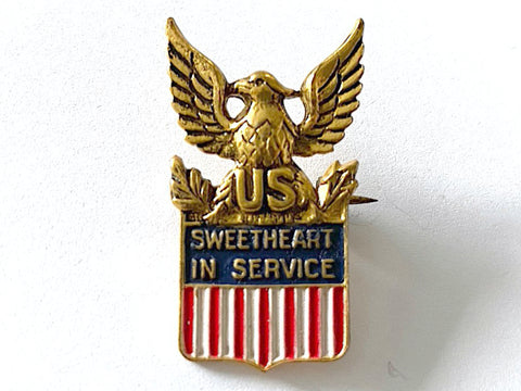 WWII Sweetheart in Service Pin BR809
