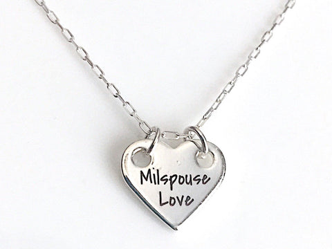MilSpouse Love Necklace