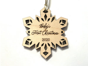 Baby's 1st Christmas Wood Ornament
