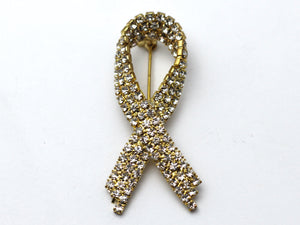 Yellow Ribbon Brooch