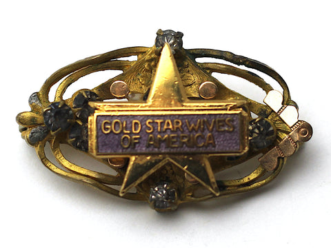 Gold Star Wives One of a Kind Brooch BR70