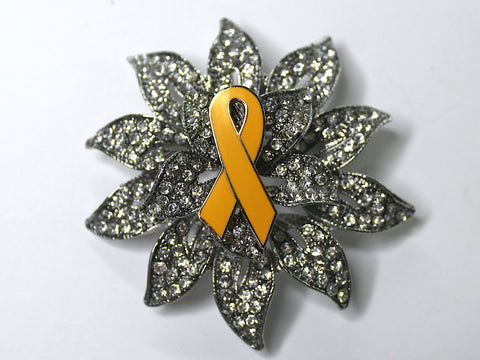 Yellow Ribbon Limited Edition Brooch BR118