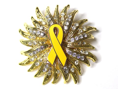 Yellow Ribbon Limited Edition Brooch BR144