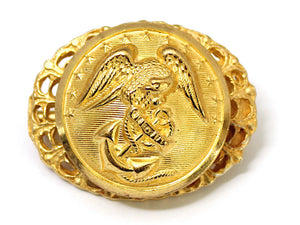 Marines Button One of a Kind Brooch BR150