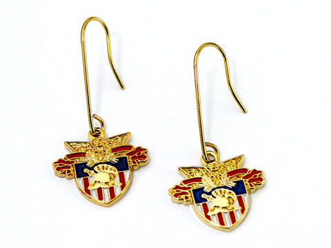 USMA Crest French Wire Earrings