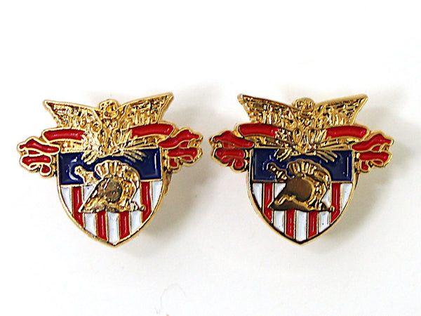 USMA Crest Post Stud Earrings